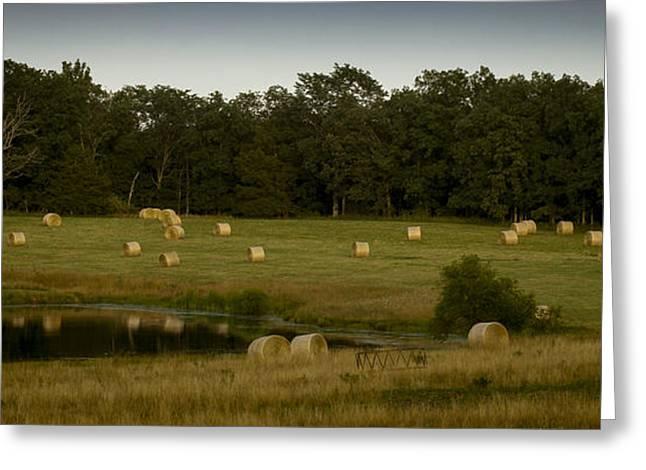 Hay Bales Greeting Cards - Hay Bales Greeting Card by Wayne Meyer