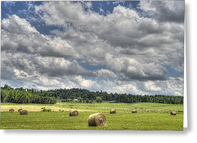 Hayfield Greeting Cards - Hay Field Greeting Card by Jim Pearson