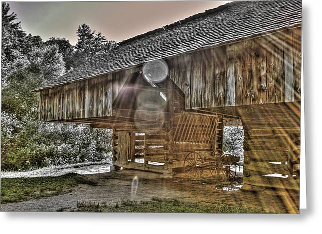 Cantilever Barn Greeting Cards - Hay There Greeting Card by Casey Guinan