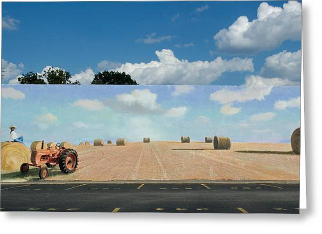 Blue Sky Greeting Cards - Haybales - The other side of the Tunnel Greeting Card by Blue Sky