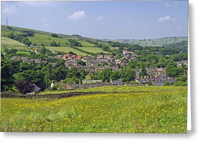 Peak District Greeting Cards - Hayfield - Derbyshire from Snake Path Greeting Card by Rod Johnson