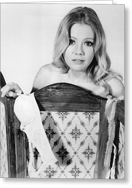 The Family Greeting Cards - Hayley Mills in The Family Way Greeting Card by Silver Screen