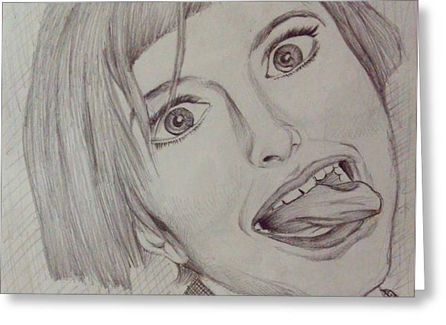 Hayley Williams Pencil Sketch. Greeting Card by Souvik