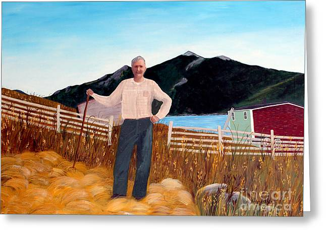 Provider Greeting Cards - Haymaker with Pitchfork  Greeting Card by Barbara Griffin