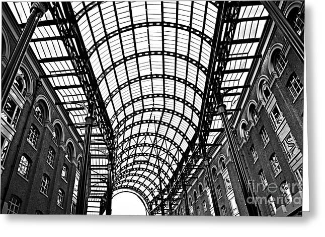 London Structure Greeting Cards - Hays Galleria roof Greeting Card by Elena Elisseeva