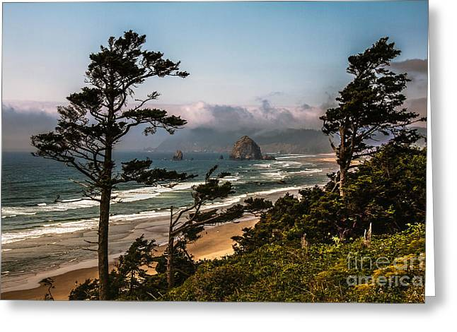 Seacape Greeting Cards - Haystack Framed Greeting Card by Robert Bales