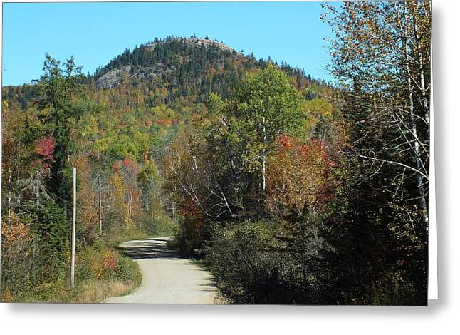 Rural Maine Roads Greeting Cards - Haystack in the Fall Greeting Card by Gene Cyr