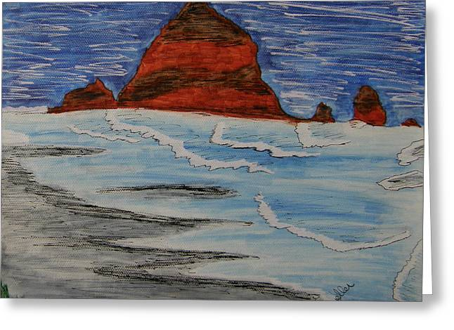 Rocks Drawings Greeting Cards - Haystack Greeting Card by Marcia Weller-Wenbert