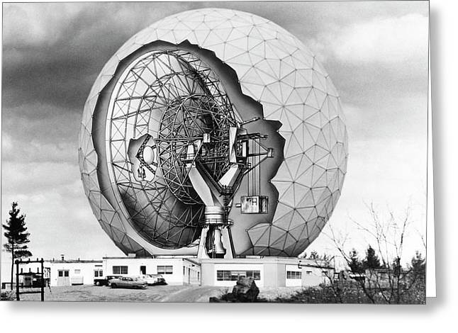 Haystack Microwave Research Facility Greeting Card by Emilio Segre Visual Archives/american Institute Of Physics
