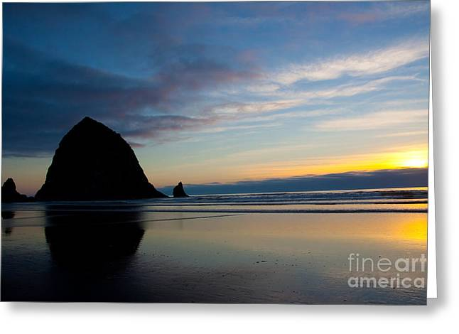 Ocean Greeting Cards - Haystack Reflections Greeting Card by Dana Kern