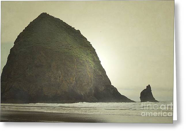 Haystack Framed Prints Greeting Cards - Haystack Rock Beach Greeting Card by Andrea Hazel Ihlefeld