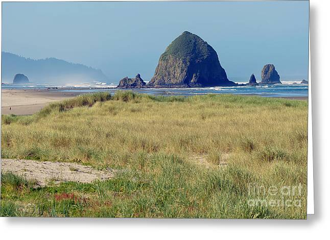 Beach Photography Greeting Cards - Haystack Rock Cannon Beach Greeting Card by Beth Wolff