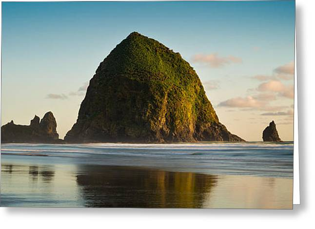 Cannon Beach Greeting Cards - Haystack Rock Cannon Beach O R Greeting Card by Steve Gadomski