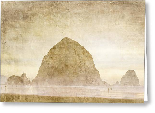 Haystack Rock Greeting Card by Carol Leigh