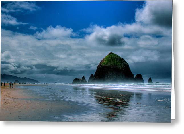 Ocean Scenes Greeting Cards - Haystack Rock IV Greeting Card by David Patterson