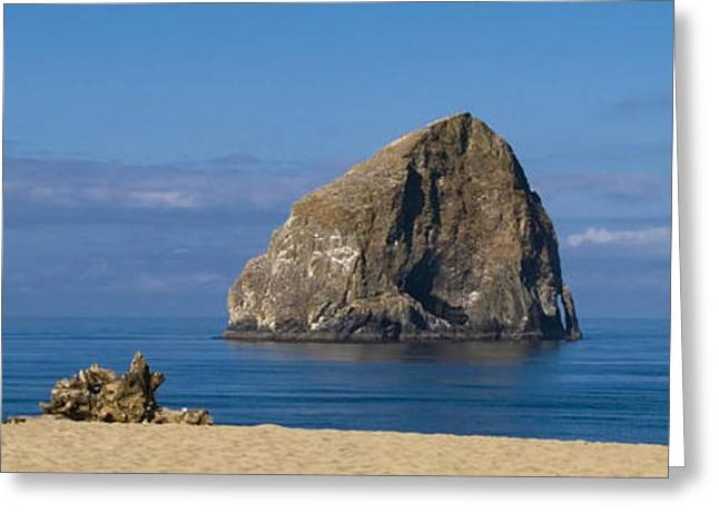 Ocean Images Greeting Cards - Haystack Rock - Pacific City Oregon Coast Greeting Card by Brian Harig