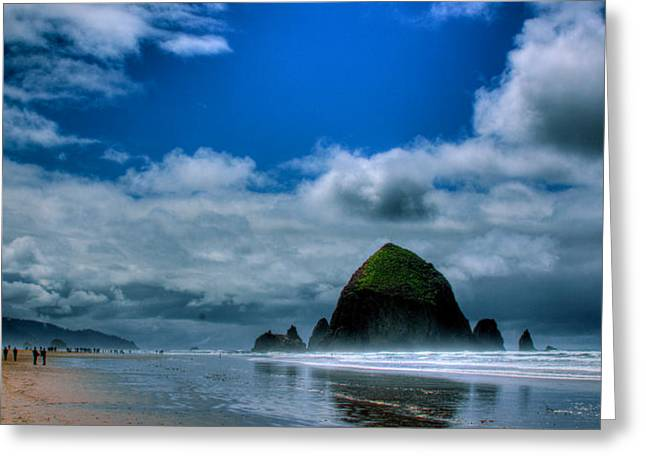 Monolith Greeting Cards - Haystack Rock V Greeting Card by David Patterson