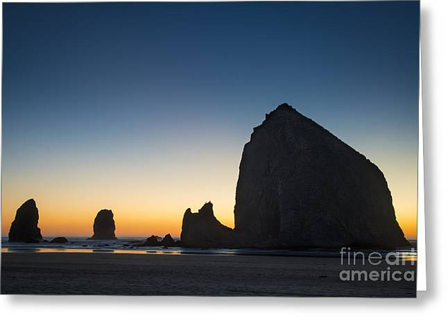 Haystack Silhouette Greeting Card by Brian Jannsen