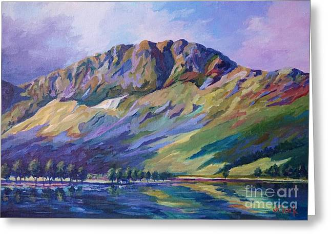 Saddleback Greeting Cards - Haystacks  Buttermere Greeting Card by John Clark