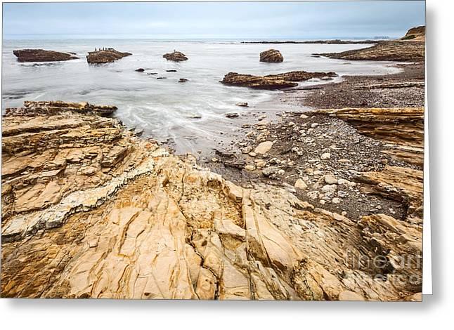 Montana De Oro Greeting Cards - Hazard Beach - the jagged of Montana de Oro State Park Greeting Card by Jamie Pham