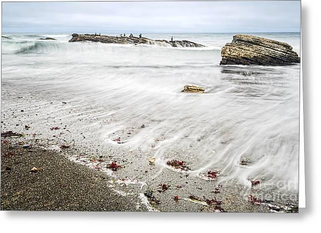 Montana De Oro Greeting Cards - Hazard Reef - the jagged rocks of Montana de Oro State Park Greeting Card by Jamie Pham