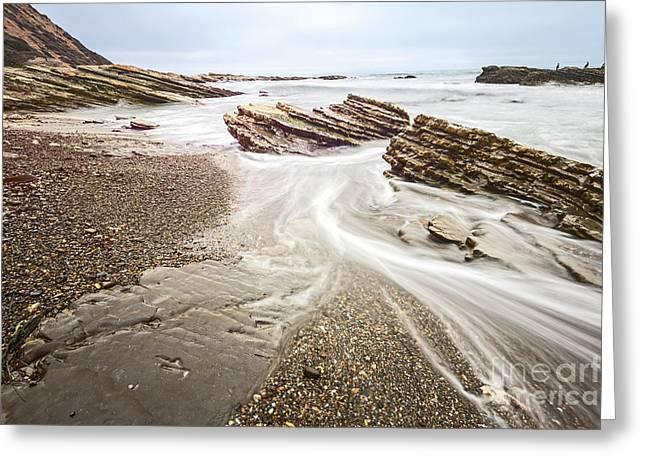 Montana De Oro Greeting Cards - Hazard Reef flow - the jagged rocks Montana de Oro State Park Greeting Card by Jamie Pham