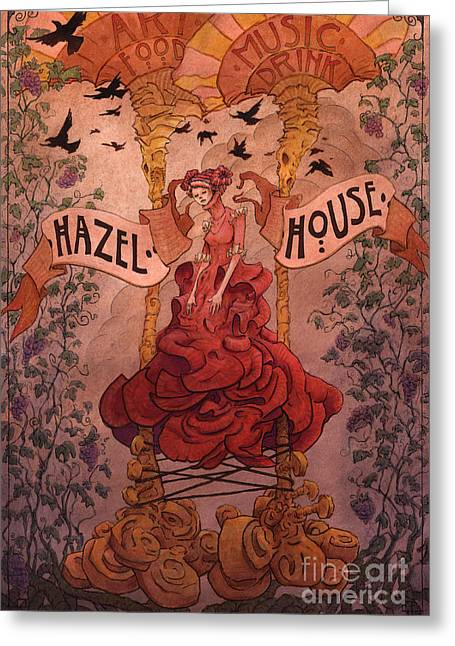 Eerie Greeting Cards - Hazel House Greeting Card by Ethan Harris
