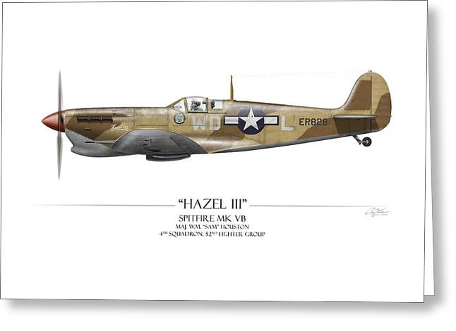 Squadron Greeting Cards - Hazel III Spitfire MkV Greeting Card by Craig Tinder