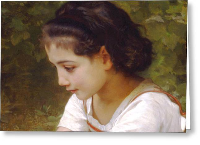 Williams Sisters Greeting Cards - Hazelnuts Detail II Greeting Card by William Bouguereau