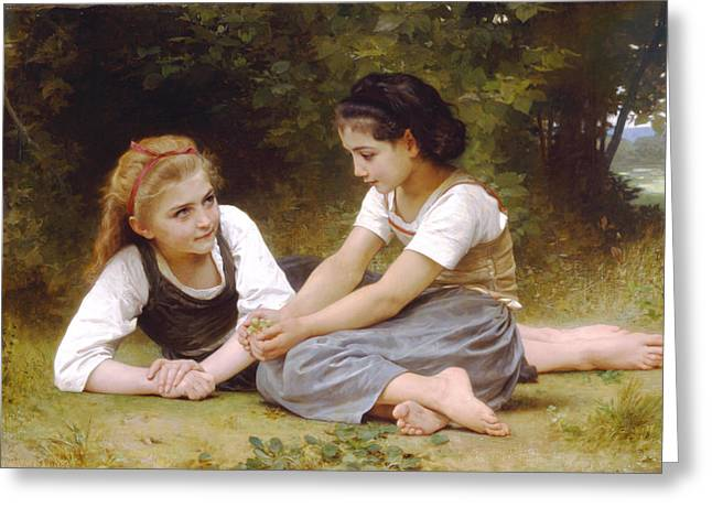 Williams Sisters Greeting Cards - Hazelnuts Greeting Card by William Bouguereau