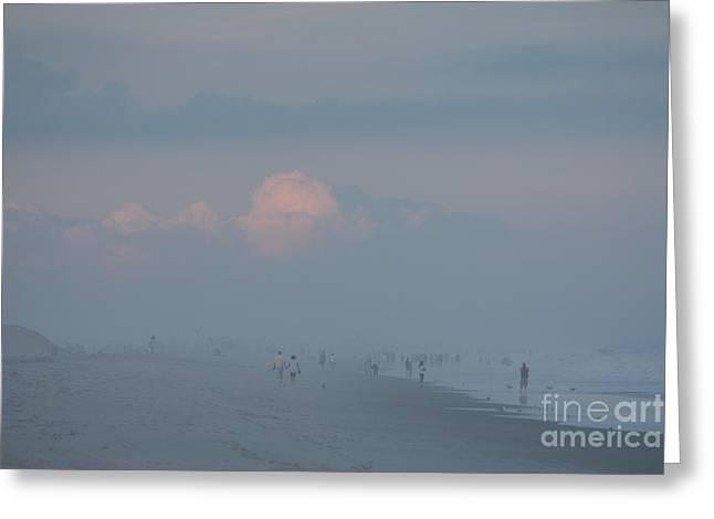 Beach Photography Greeting Cards - Hazy Day Over Jones Beach Greeting Card by John Telfer