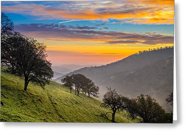 Haze Greeting Cards - Hazy East Bay Sunrise Greeting Card by Marc Crumpler