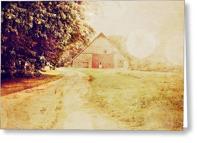 Rural Setting Greeting Cards - Hazy  Greeting Card by Julie Hamilton