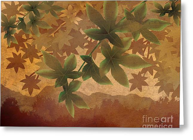 Unique View Mixed Media Greeting Cards - Hazy Shades - Morning Version Greeting Card by Bedros Awak