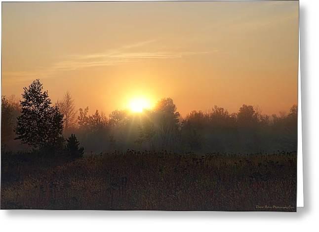 Hazy Sunrise Greeting Card by Daniel Behm
