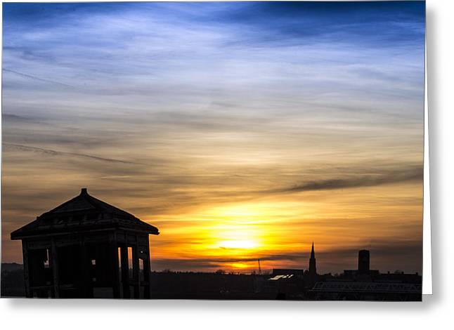 Merseyside Greeting Cards - Hazy sunset over the River Mersey Greeting Card by Paul Madden
