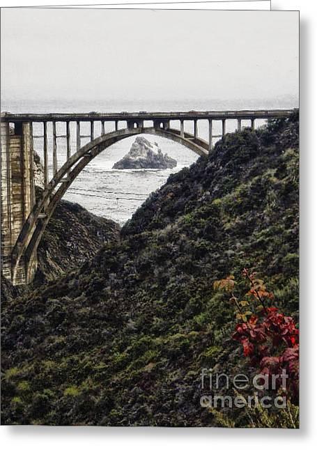 Bixby Bridge Digital Art Greeting Cards - hd 431The  Bixby Bridge Greeting Card by Chris Berry