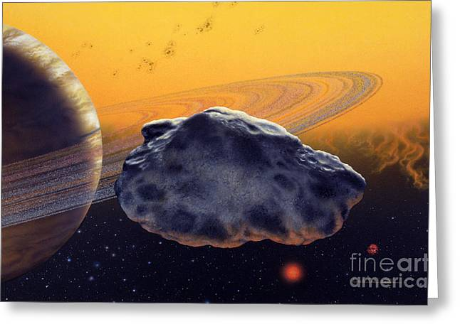 Planetary System Paintings Greeting Cards - HD 46375 b Greeting Card by Lynette Cook