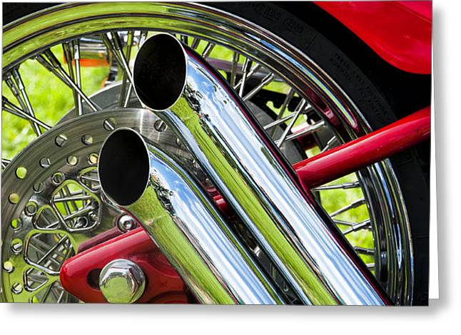 HD Custom Drag Pipes Greeting Card by Tim Gainey