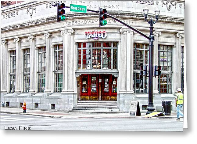 Tennessee Landmark Digital Greeting Cards - HDR STREET PHOTOGRAPHY Nashville TN Greeting Card by Lesa Fine
