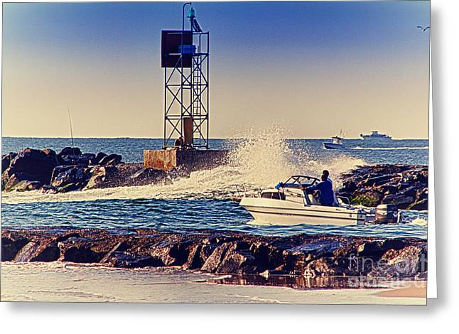 Buy Sell Photo Greeting Cards - HDR Boat Boats Fishing Ocean Beach Scenic Landscape Photos Pictures Photography Bay Buy Sell Photo  Greeting Card by Pictures HDR
