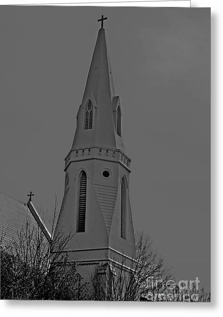 Alabama Greeting Cards - HDR BW Montgomery Steeple at Sunset Greeting Card by Lesa Fine