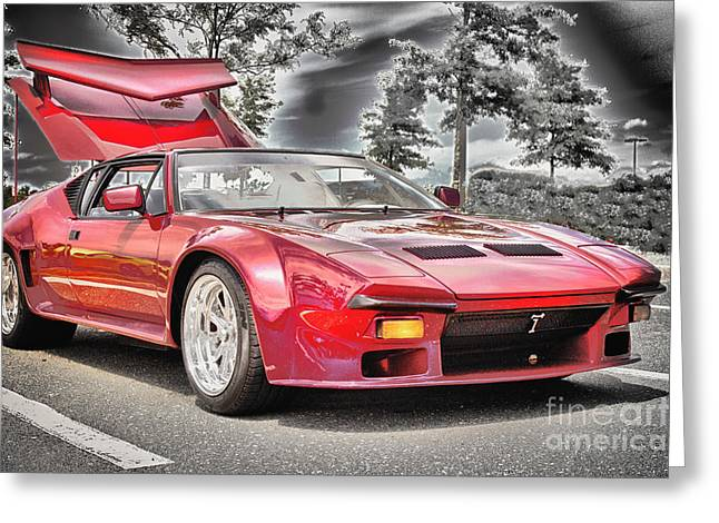 Hdr Pictures Greeting Cards - HDR Exotic Sports Car Custom Photo Picture Photography Black White Effect Art Gallery Exotic Cars  Greeting Card by Pictures HDR