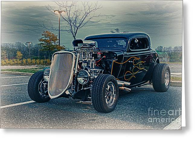 Hdr Pictures Greeting Cards - HDR Hot Rod Car Cars Vintage Classic Old Photography Photo Picture Art Gallery Selling Sale Custom Greeting Card by Pictures HDR