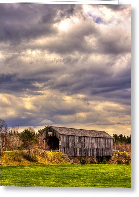 Centreville Greeting Cards - HDR Millstream River Centreville Covered Bridge Greeting Card by Jamie Roach