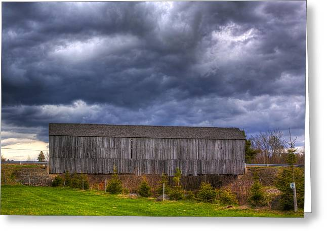 Centreville Greeting Cards - HDR Millstream River Covered Bridge Horizontal Greeting Card by Jamie Roach