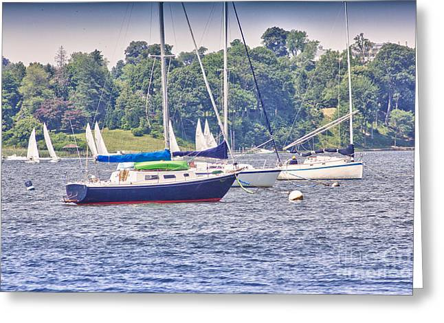 Buy Sell Photo Greeting Cards - HDR SailBoat Sailboats Bay Harbor Ocean Sea Photos Pictures Photography Photograph Picture Buy Sell Greeting Card by Pictures HDR