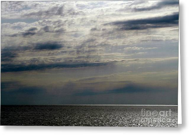 Hdr Storm Over The Water  Greeting Card by Joseph Baril