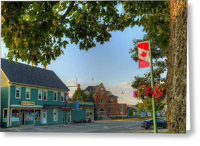 HDR Sussex Broad Street Canadian Flag Greeting Card by Jamie Roach