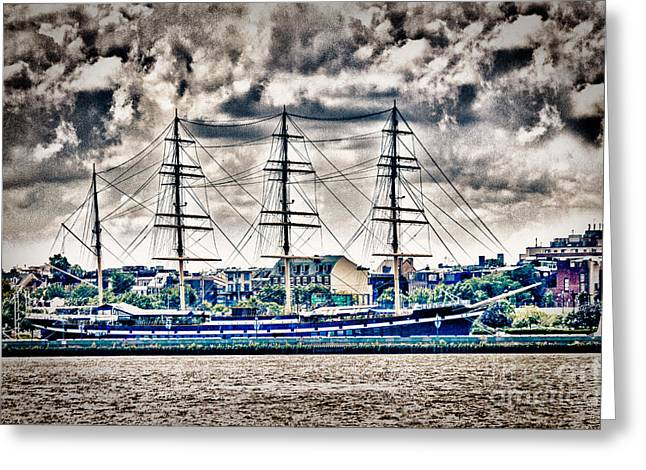 Sell Art Online Greeting Cards - HDR Tall Ship Boat Pirate Sail Sailing Photography Gallery Art Image Photo Buy Sell Sale Picture  Greeting Card by Pictures HDR